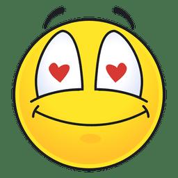 Cute emoticon de visão inovela