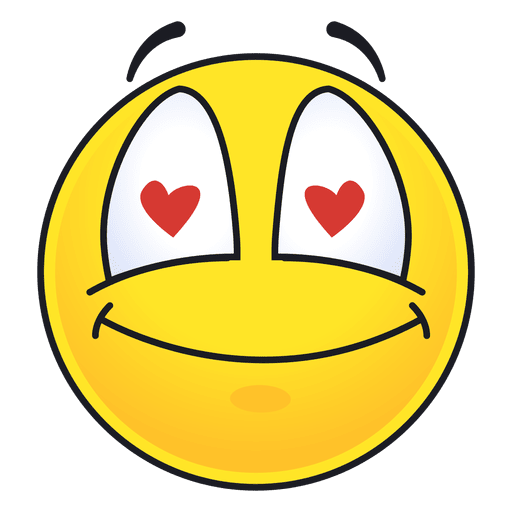 Cute inlove sight emoticon Transparent PNG