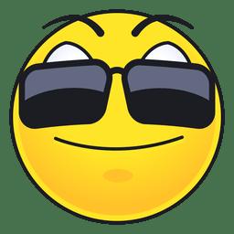 Emoticon bonito dos óculos de sol