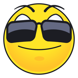 Netter Sonnenbrille Emoticon