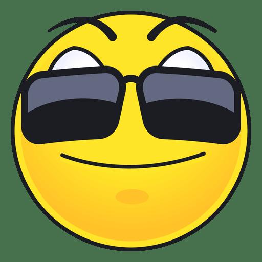 Cute sun glasses emoticon Transparent PNG