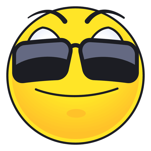 Cute sun glasses emoticon