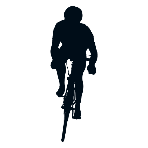 Cycling sprint silhouette