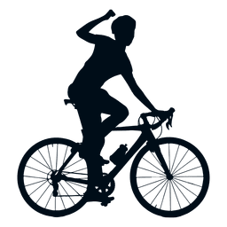 Cycling winner silhouette