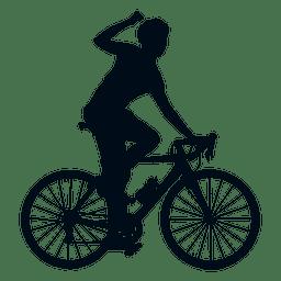 Radsport Gewinner Silhouette