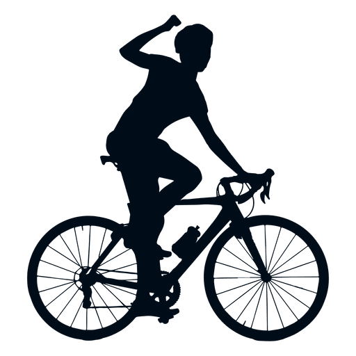 Cycling winner silhouette