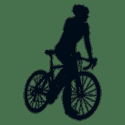 Ciclista escalada silueta