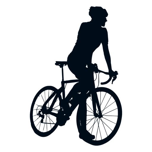 Cyclist climbing silhouette Transparent PNG