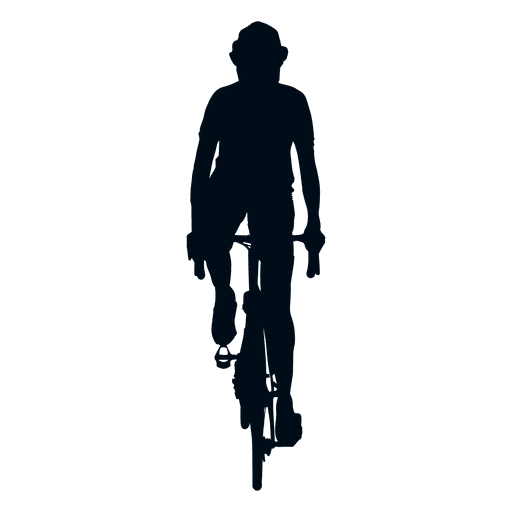 Cyclist silhouette front view