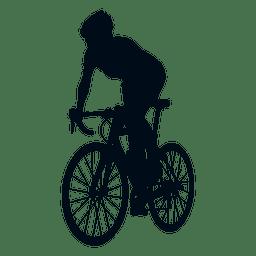 Silhueta de sprite ciclista