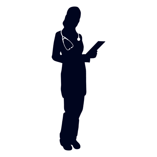 Doctor holding file silhouette - Transparent PNG & SVG vector