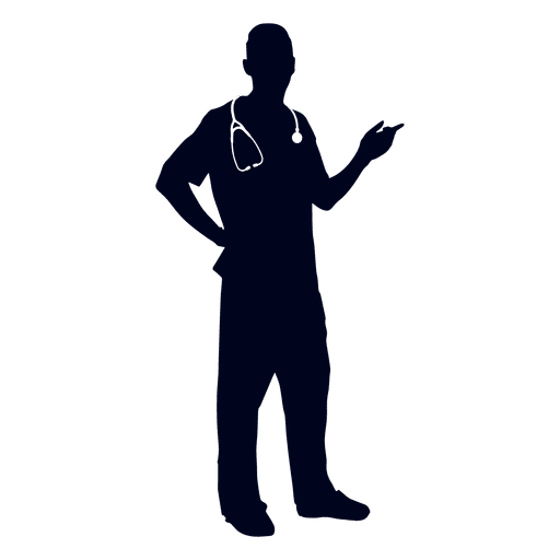 Doctor pointing silhouette Transparent PNG