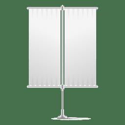 Doble bandera vertical en blanco