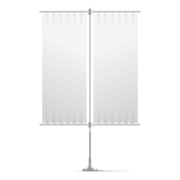 Double blank vertical flag