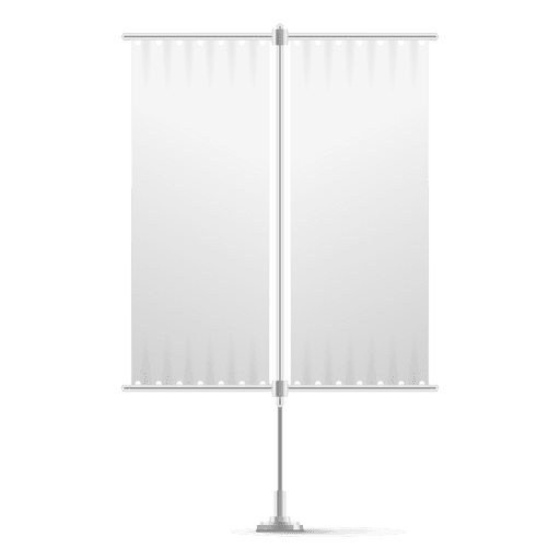 Double blank vertical flag Transparent PNG