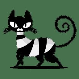 Dibujos animados de gato negro elegante