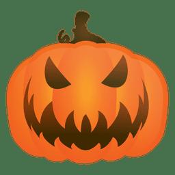 Calabaza malvada de halloween