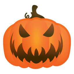 Evil calabaza de halloween