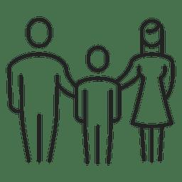 Familie mit Jungenkindanschlag