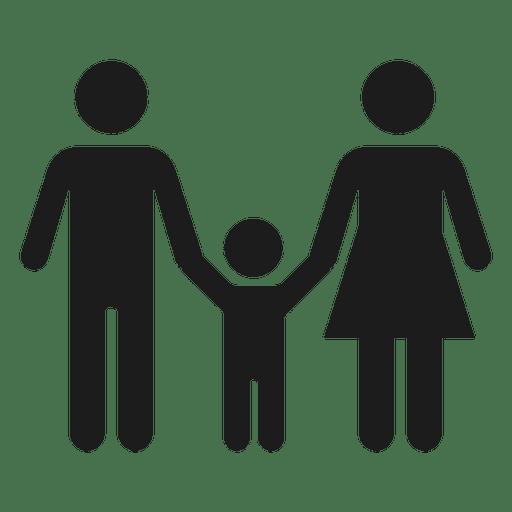 Família, com, criança, ícone Transparent PNG