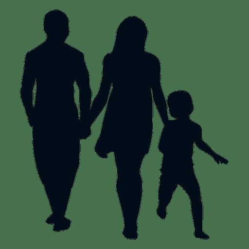 Familia con silueta de niño