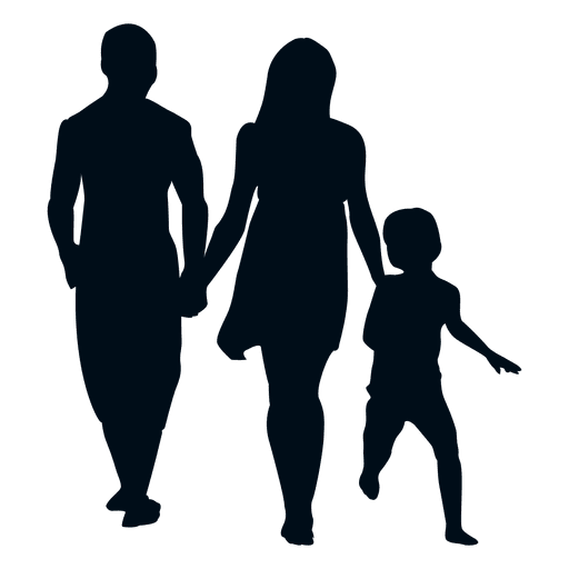 Family with child silhouette Transparent PNG