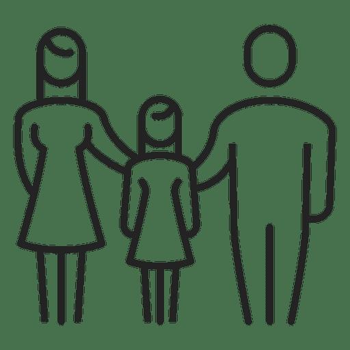 Família, com, menina, criança, apoplexia Transparent PNG