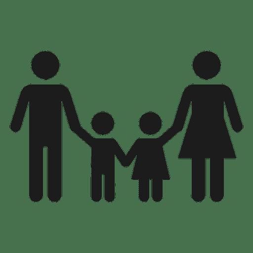 Icono de familia con dos hijos