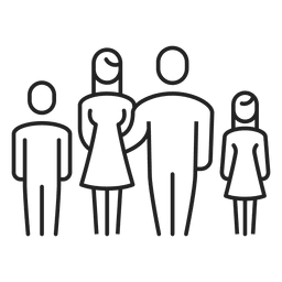 Familie mit zwei Kindern Schlaganfall