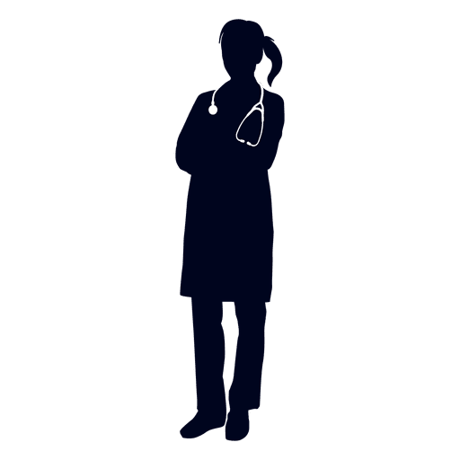 Female doctor silhouette