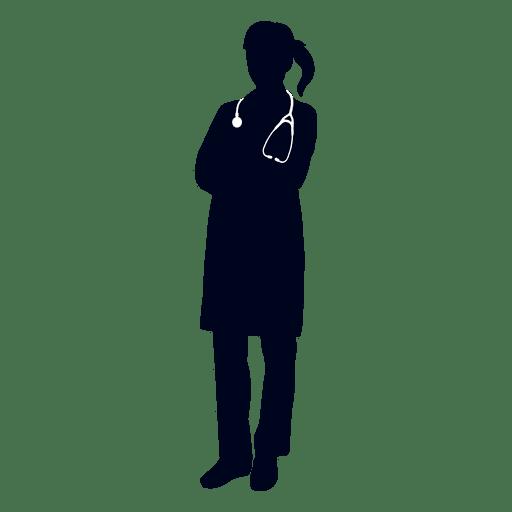 Silueta de doctora