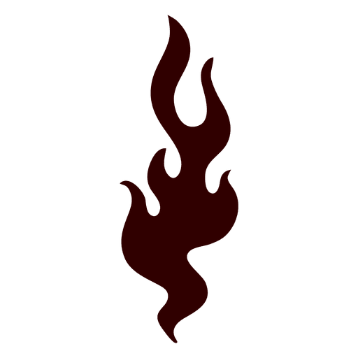 Fire blaze isolated silhouette Transparent PNG