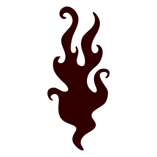 Icono de silueta de fuego ardiente Transparent PNG