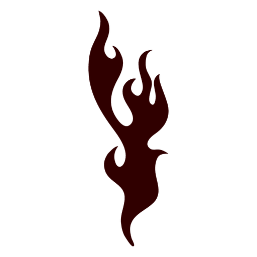 Fire flame silhouette icon fire silhouette Transparent PNG