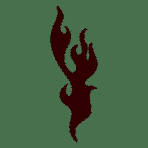 Fuego, llama, silueta, icono fuego, silueta Transparent PNG