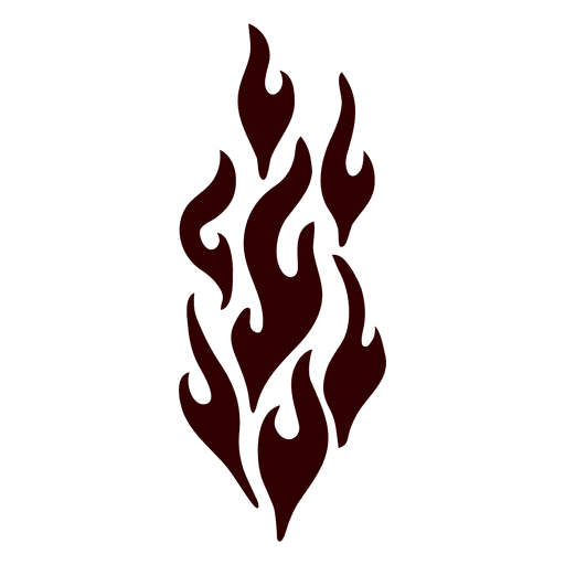 Fire isolated silhouette Transparent PNG