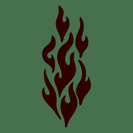 Silueta de fuego aislado Transparent PNG