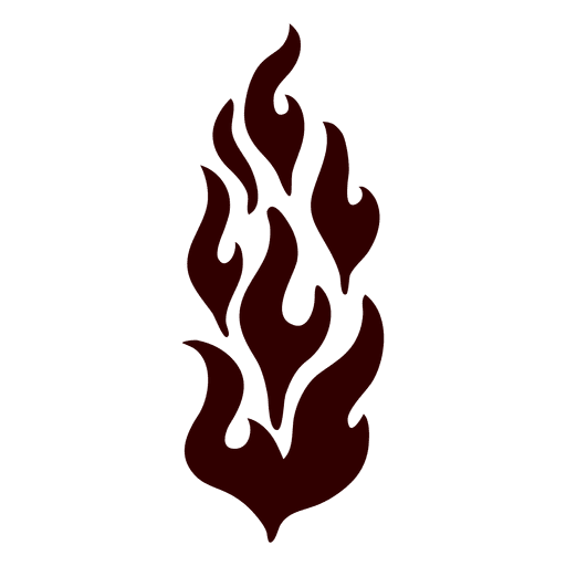 Fire isolated silhouette icon Transparent PNG