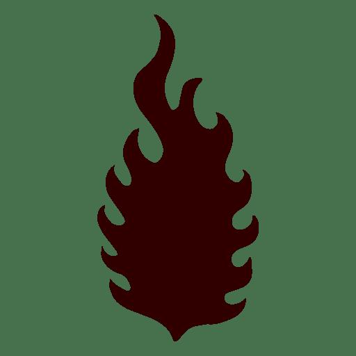 Flama silueta aislada Transparent PNG