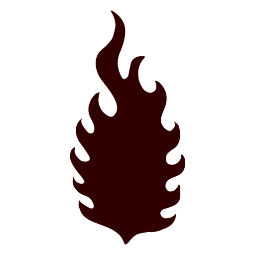 Flame isolated silhouette Transparent PNG
