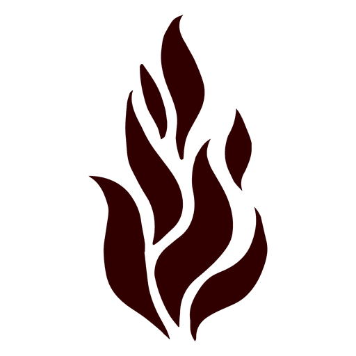 Flame isolated silhouette icon Transparent PNG