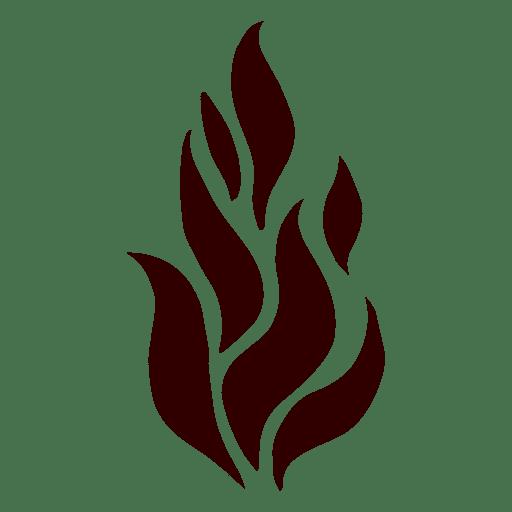 Llama aislado icono de silueta Transparent PNG