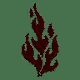 Icono de silueta de llama