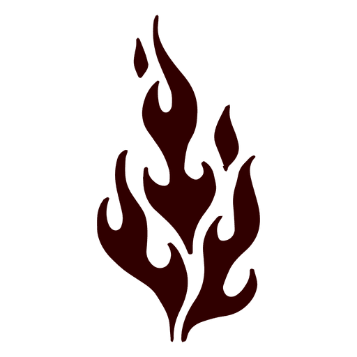 Flame silhouette icon Transparent PNG