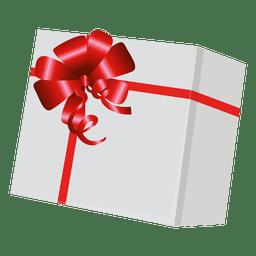 Caixa de presente com envoltório vermelho