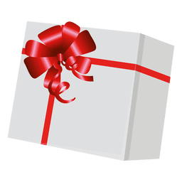 Gift box with red wrap