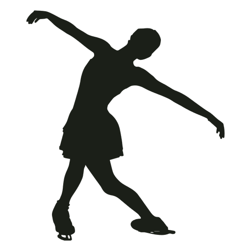 Girl figure skating silhouette Transparent PNG