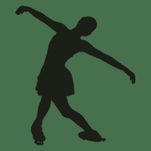 Silueta de niña de patinaje artístico Transparent PNG
