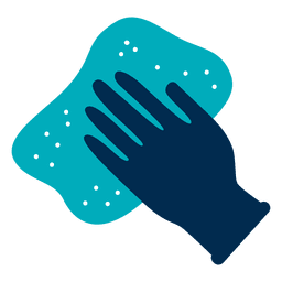 Glove and rag icon