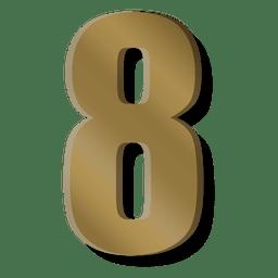 Barra de oro figura ocho símbolo